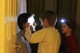 flashlight in eyes