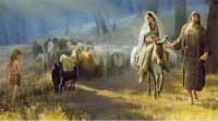 Mary riding donkey