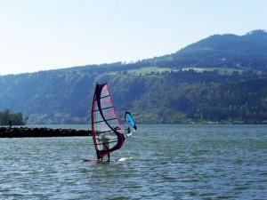 Windsurfing on the Columbia River, Oregon