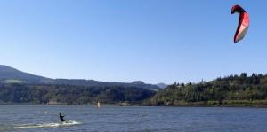 Kiteboarding in Hood River, OR